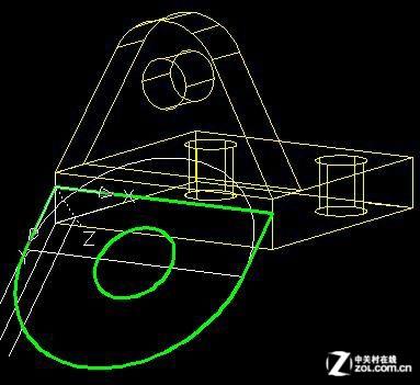 【高清图】 autocad教程 根据二维图画三维实体图图15