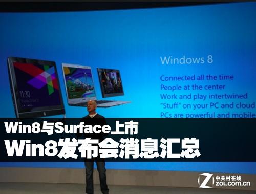 Win8与Surface上市 Win8发布会消息汇总