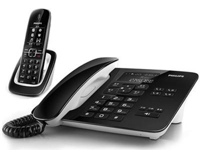飞利浦 DCTG492 2.4G来电显示语音报号无绳子母电话机