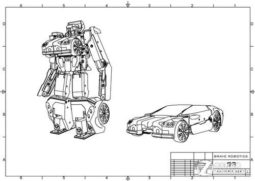 真实版变形金刚:3D打印的机器人会变形