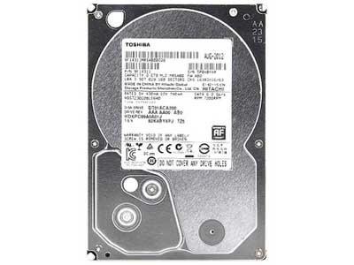 东芝 2TB 7200转 64MB(DT01ACA200)