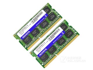 威刚笔记本双通道 8GB DDR3 1600