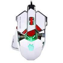 剑圣一族L10个性鼠标机械自定义宏编程cf LOL WOW金属游戏鼠标 10键自定义鼠标 镜面白