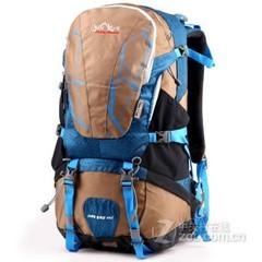 攀跃PANYUE新品促销专业户外包大野营双肩徒步包男女户外40L包邮9809天蓝色