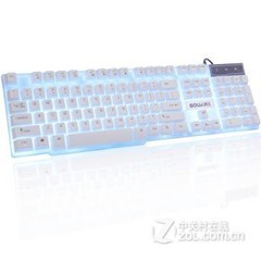 硕王悬浮机械手感背光键盘