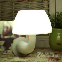 银之优品蘑菇声光控感应小夜灯 光控白色光