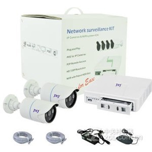 佳信捷 960P/1080P 2台枪机摄像机+4路网络硬盘录像机