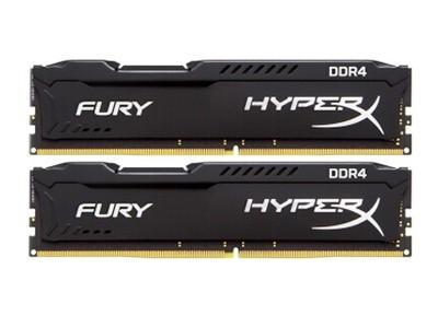 金士顿 骇客神条FURY 16GB DDR4 2400(HX424C15FBK2/16)16G 2400 台式机内存条 四代内存条 本周促销!