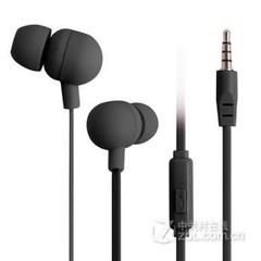果衣马卡龙糖果色入耳式耳机 黑色