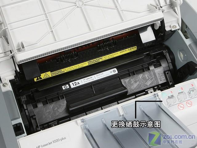 打印机换硒鼓步骤配图1