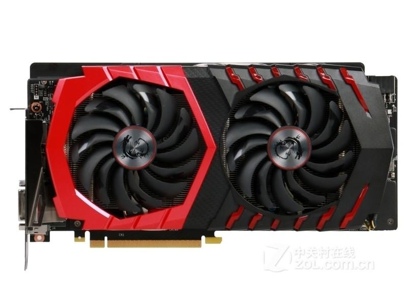 微星GeForce GTX 1060 GAMING X 6G整体外观图