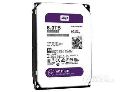西部数据 紫盘8TB/5400转/128MB(WD80PUZX)