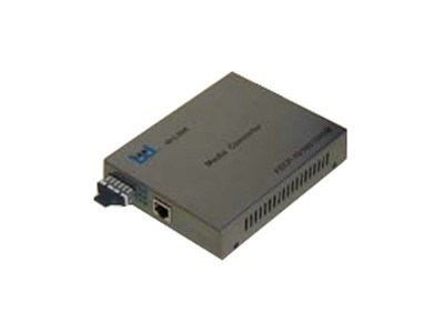 W-LINK FECP-10/100/1000M-SC多模内置电源电信级 网络监控SC接口千兆自适应光纤收发器
