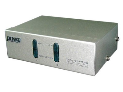 LANBE AS-21P 1组KVM操作2 台主机 桌面式   键盘、鼠标接口PS/2