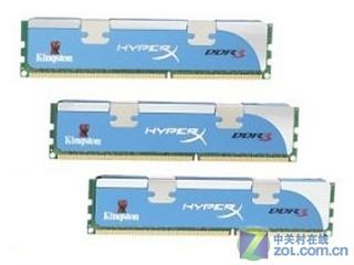 金士顿12GB DDR3 1600(三通道套装)