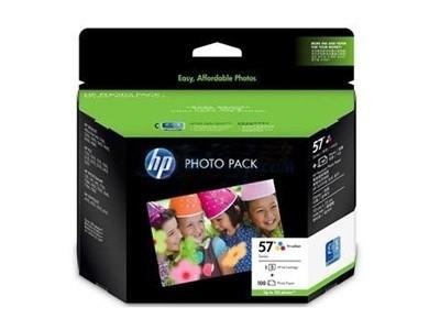 HP 57(Q7931AA)彩色墨盒+100页相纸套装