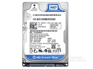 WD Scorpio Blue 320GB 5400转 8MB SATA2(WD3200BEVT)