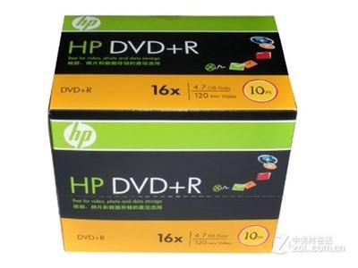 惠普 DVD+R 16速 4.7G(单片盒装)