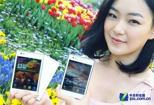 5.0吋1.5GHz双核 白色LG Optimus Vu发布