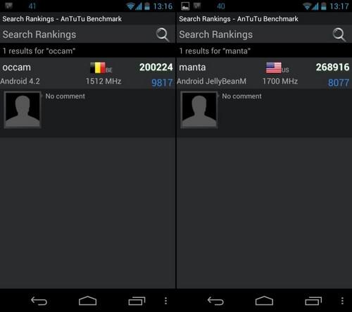 内测Android4.2 摩托Occam/Manta确定存在